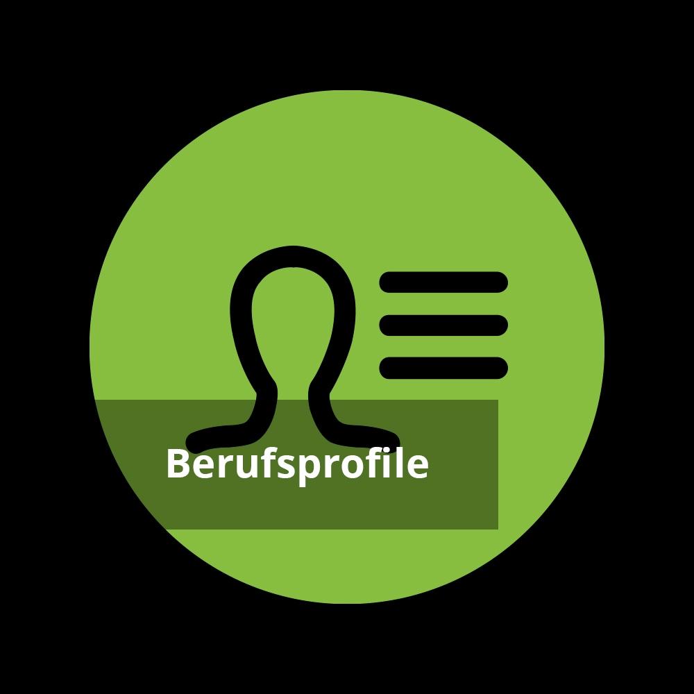 Personenbeschreibung Icon mit Text 'Berufsprofile'