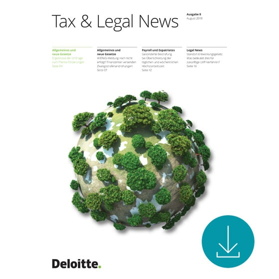 Tax & Legal News Nr 08/2018
