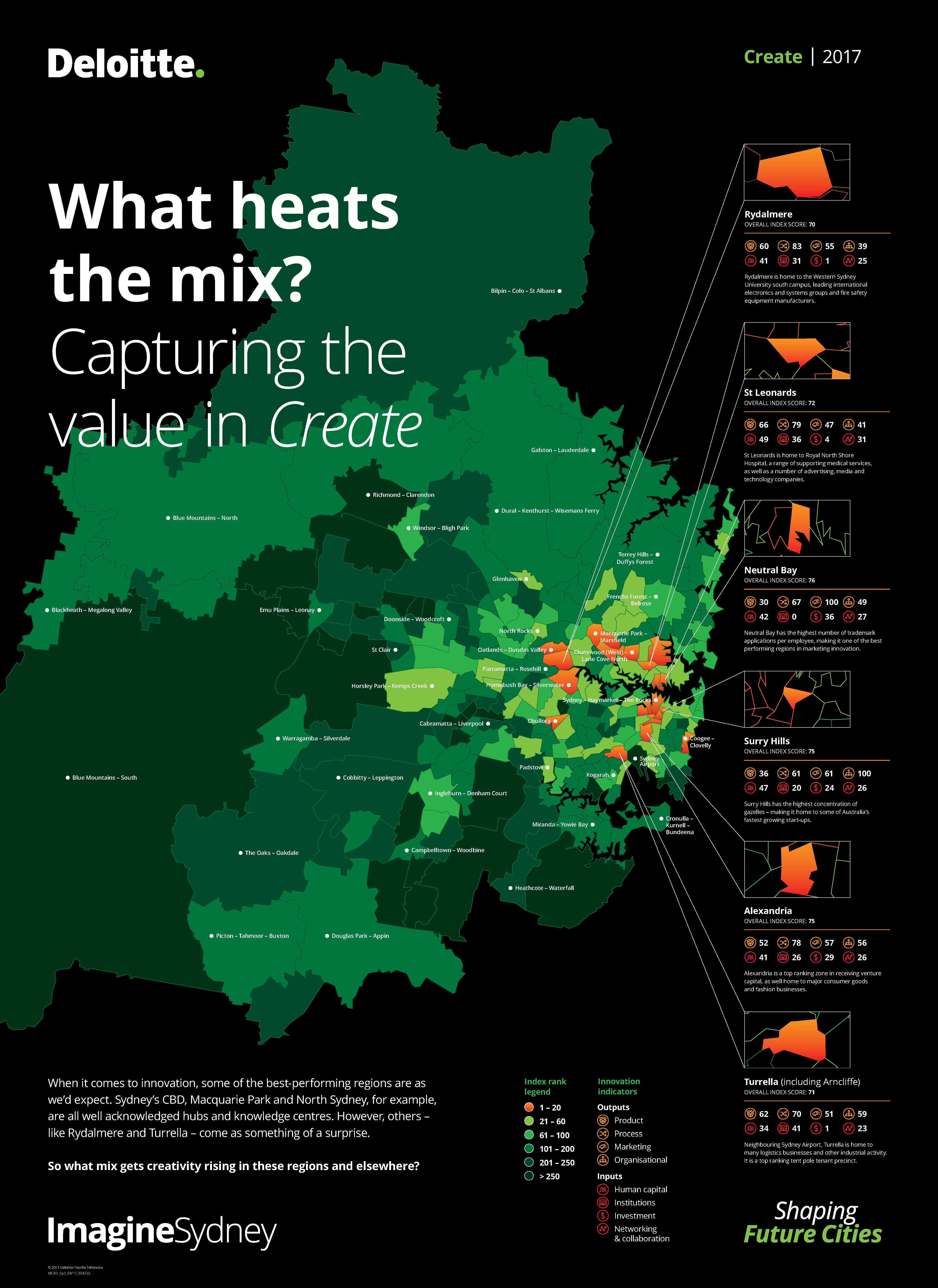 Download The Infographic To Find Out What Mix Gets Creativity Rising In Some Of Sydney S Regions