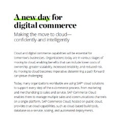 A New Day for Digital Commerce