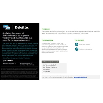 SAP: Case studies | Deloitte | Technology services