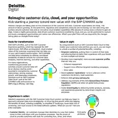 Reimagine customer data, cloud, and your opportunities