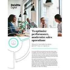 To optimize performance, modernize sales operations