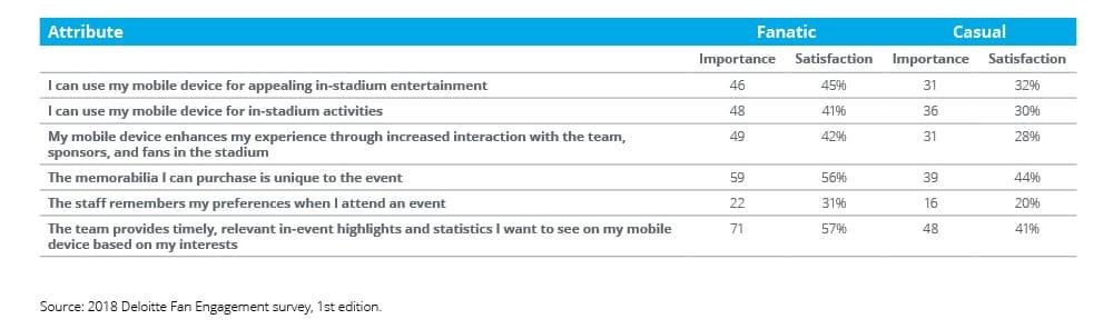 Stadium Experience and Fan Satisfaction Survey | Deloitte US