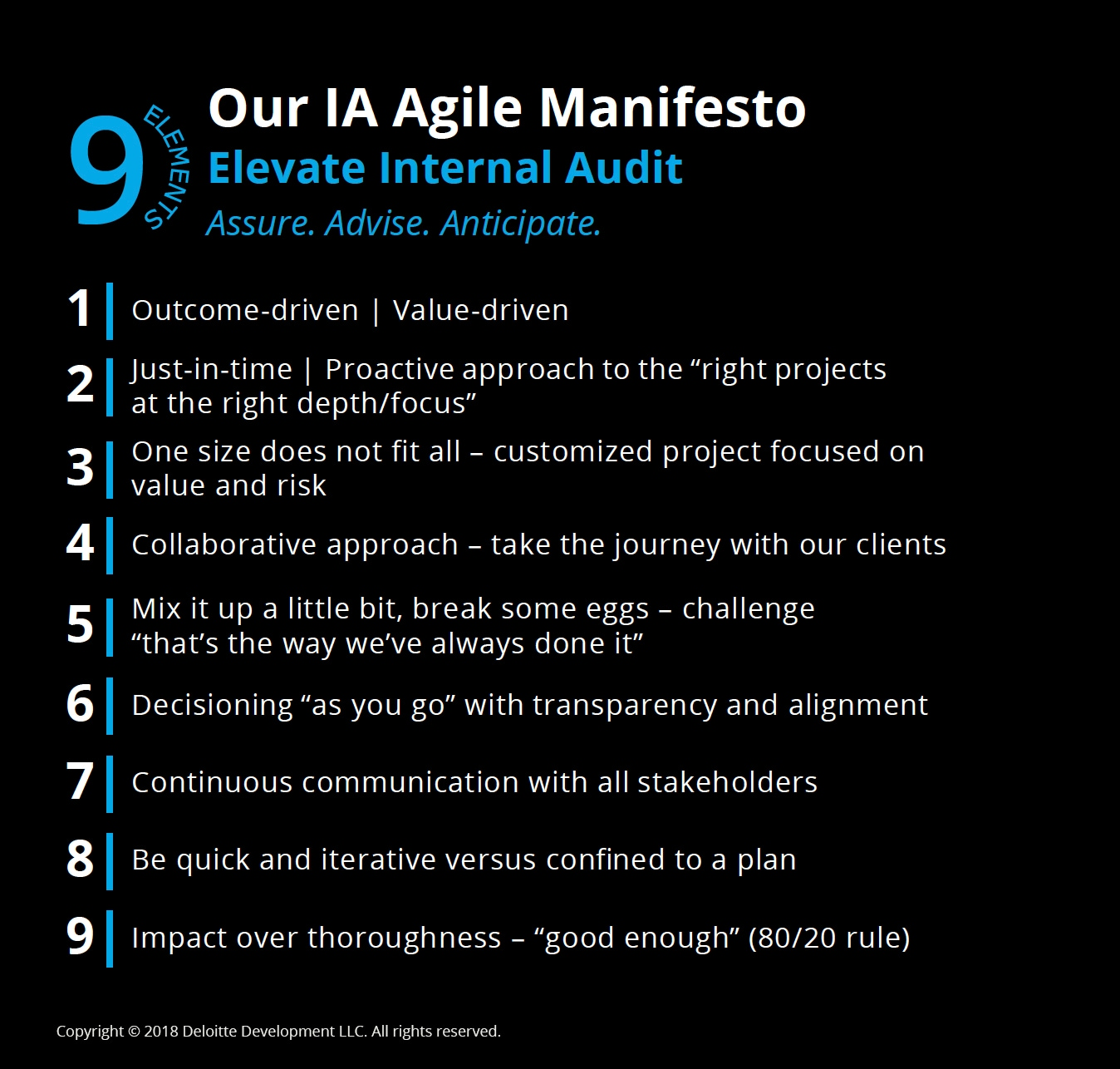Becoming Agile: Elevate Internal Audit Performance and Value