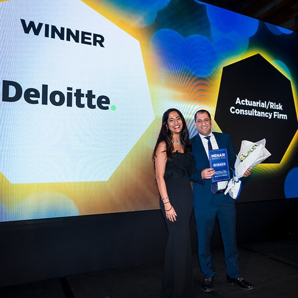 Deloitte receives Actuarial/Risk Consultancy Firm of the year award at MENA IR 2020
