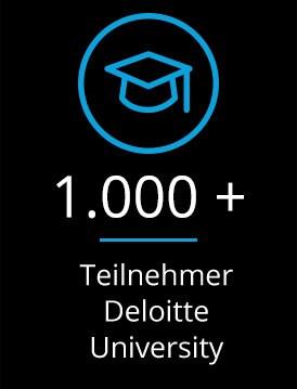 Keyfact 5: 1.000 + Teilnehmer Deloitte University
