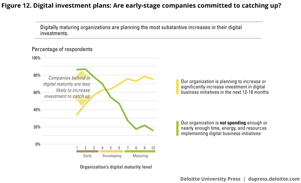 Digital investment plans: Are early-stage companies committed to catching up?