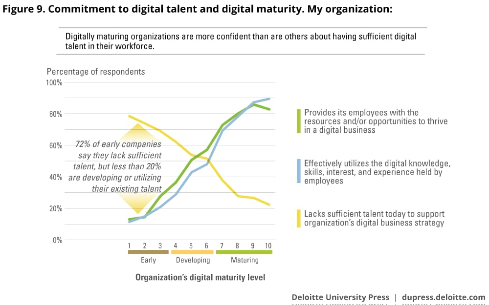 Commitment to digital talent and digital maturity. My organization: