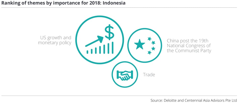 Ranking of themes by importance for 2018: Indonesia