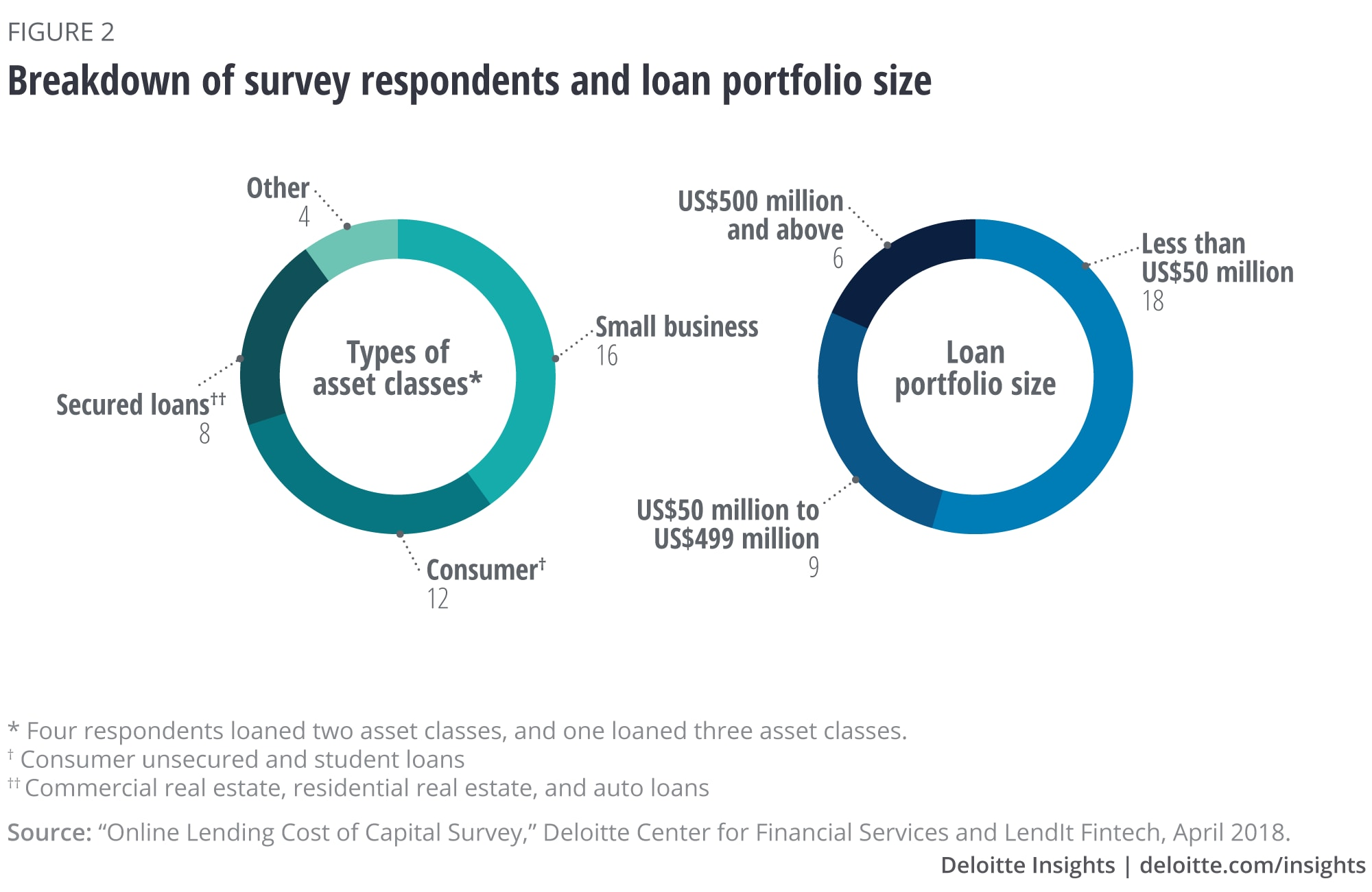 Breakdown of survey respondents and loan portfolio size