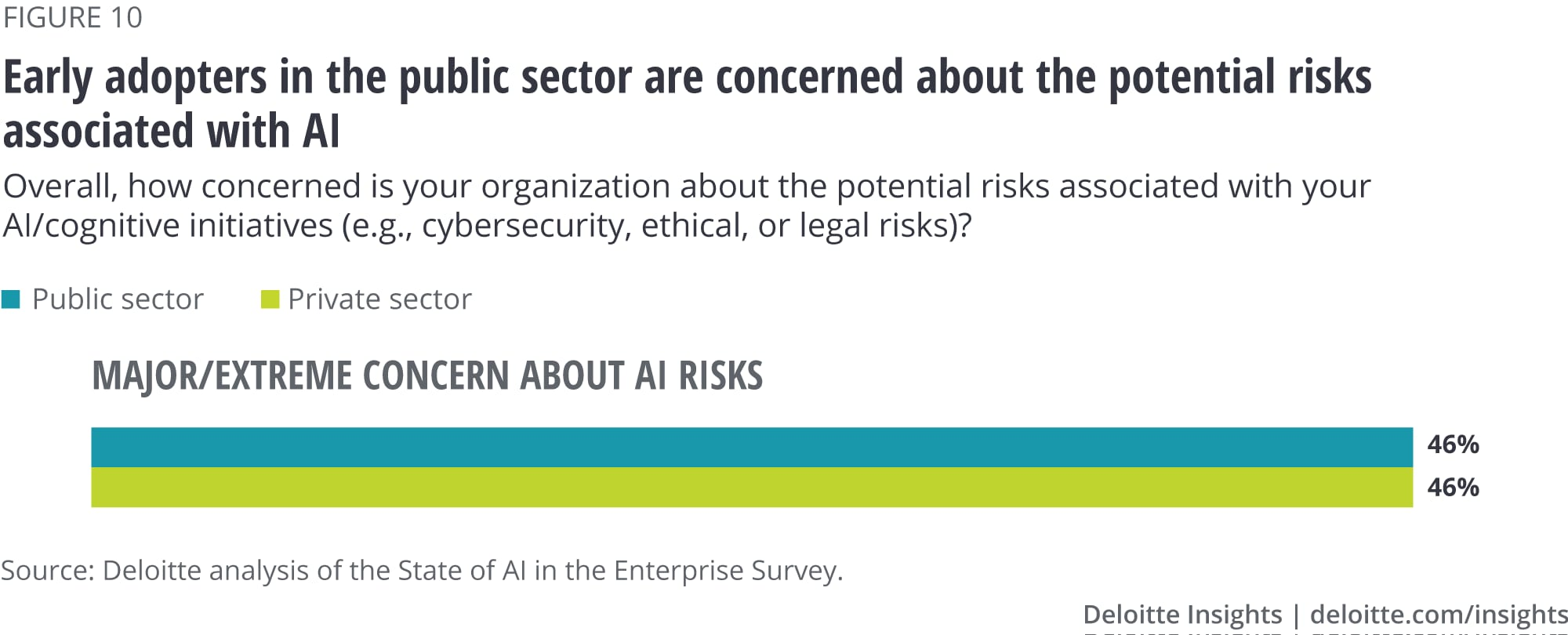 Early adopters in the public sector are concerned about the potential risks associated with AI