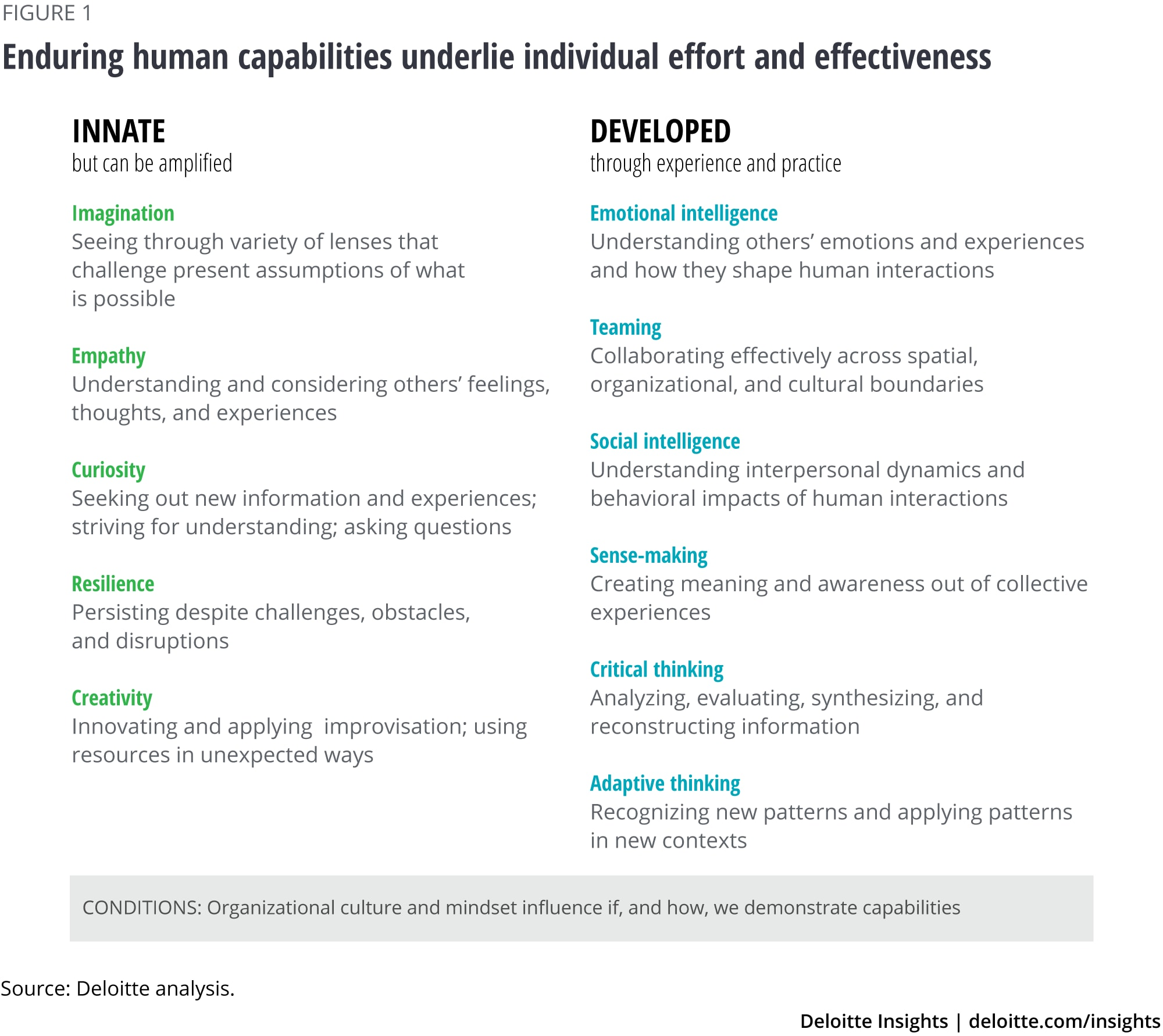 Enduring human capabilities underlie individual effort and effectiveness