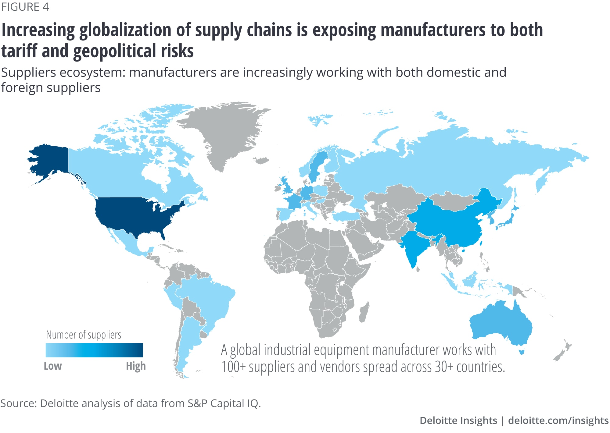 Increasing globalization of supply chains is exposing manufacturers to both tariff and geopolitical risks