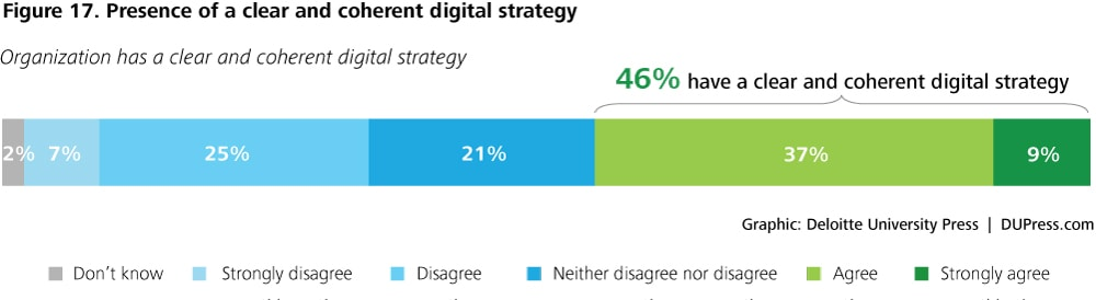 DUP1081_Figure 17. Presence of a clear and coherent digital strategy