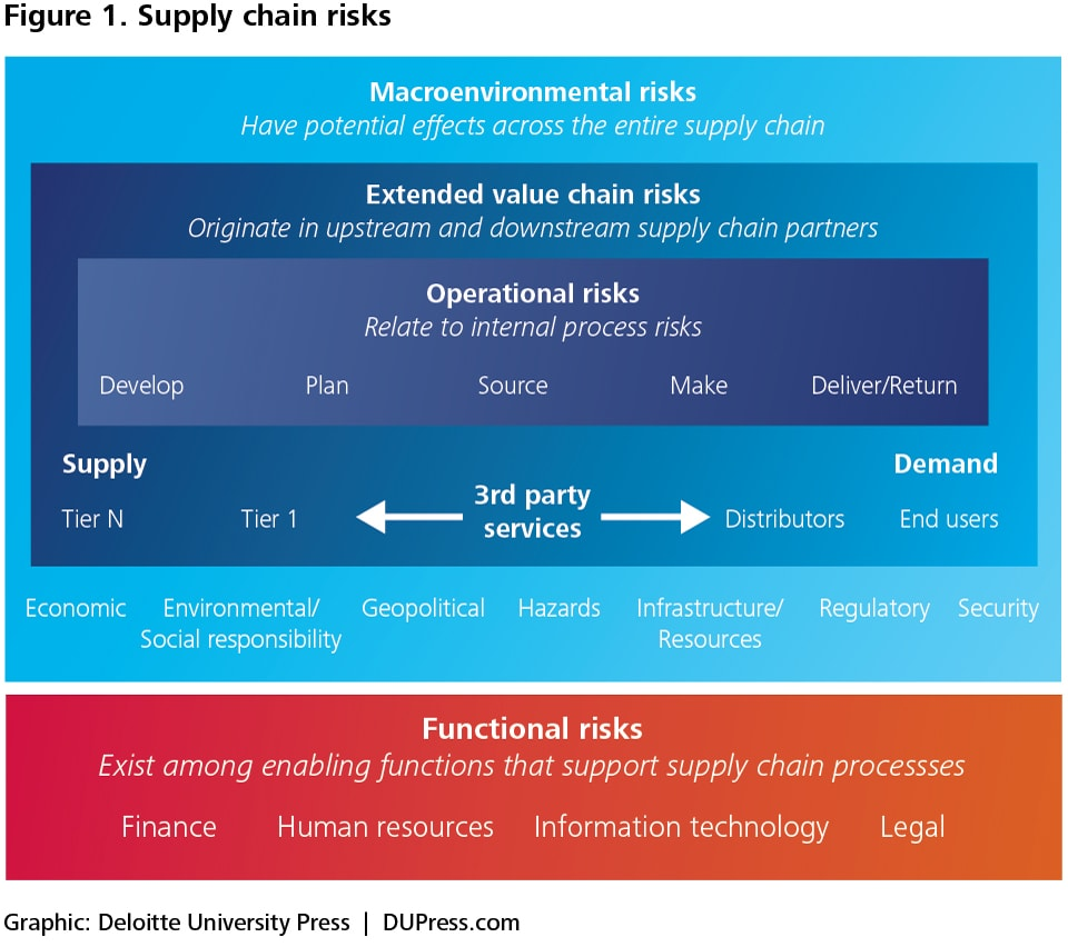 Figure 1. Supply chain risks