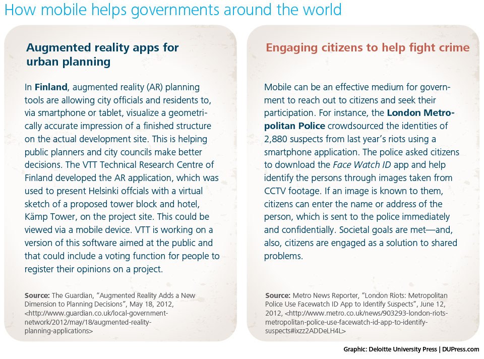 How mobile helps governments