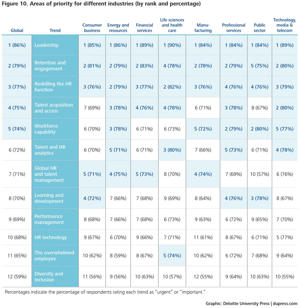 Human capital trends 2014 survey top 10 findings for Human capital planning template