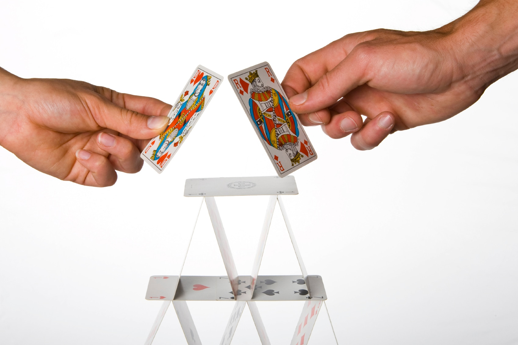 Building of a house of cards