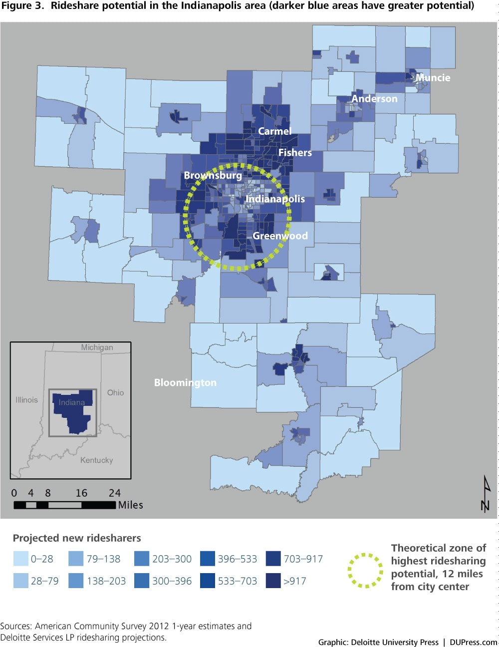 DUP_1027_Figure 3: Rideshare potential in the Indianapolis area