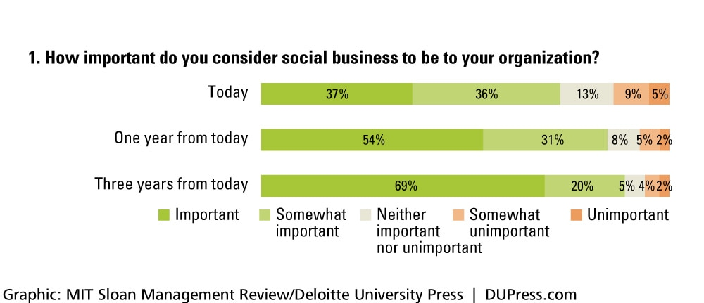 1. How important do you consider social business to be to your organization?
