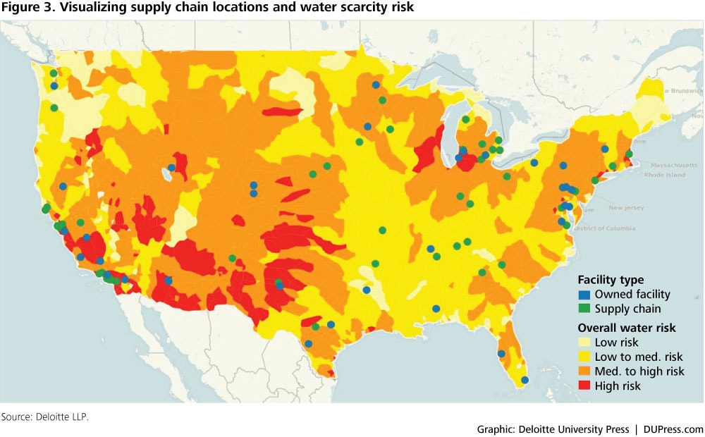 DUP_785: Figure 3. Visualizing supply chain locations and water scarcity risk