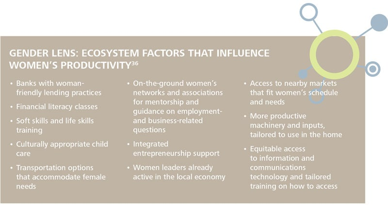 GENDER LENS: ECOSYSTEM FACTORS THAT INFLUENCE WOMEN'S PRODUCTIVITY